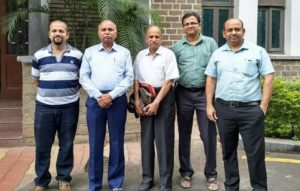 Dr Amit Shinde with Scientists from BARC and University of Pune